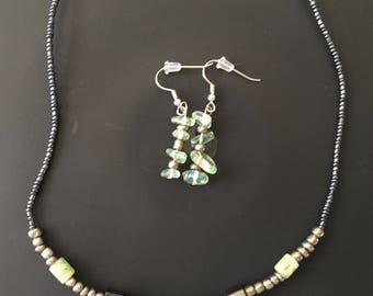 Green/Grey Jewelry Set