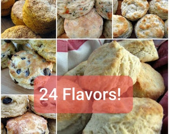 Biscuits, Southern Biscuits, Artisan Biscuits, Large, 1 Dozen, Hand-Crafted Bread, Bakery Biscuits