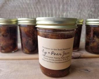 Fig & Pear Jam, Hand-Crafted Pear Jam, 8 ounce, half pint, Pear Jam, Fig Jam
