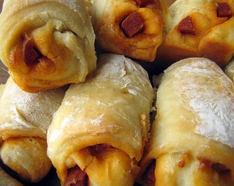 Pepperoni Rolls, Party Food, Authentic West Virginia Pepperoni Rolls, One Dozen Large or 18 Party Size