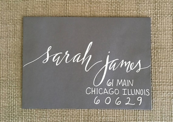Wedding Calligraphy Envelopes / Custom Handwritten / Placecards / RSVP Envelopes / Table Number Cards and Cardstock Invitations Also