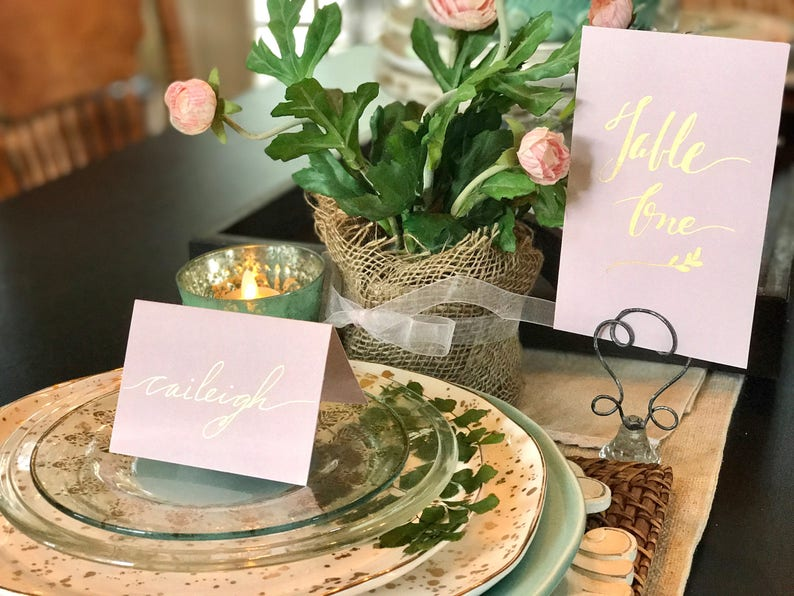 Wedding Place cards/Personalized Handwritten Place Cards/Table image 0