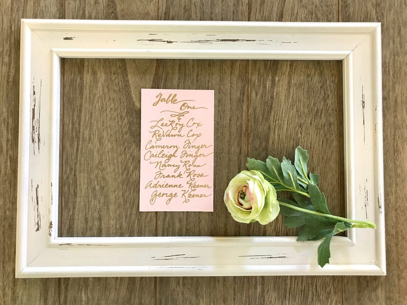 Handwritten Wedding Seating Chart Cards & Find Your Seat image 0