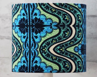 Handmade Lampshade Amy Butler Gypsy Lark Cobalt