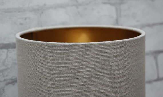 Handmade OVAL Drum Lampshade Laura Ashley Austen Fabric 30cm