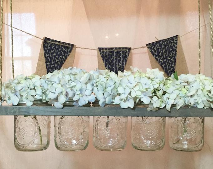 Featured listing image: Horizontal Mason Jar Holder // Planter // Vase