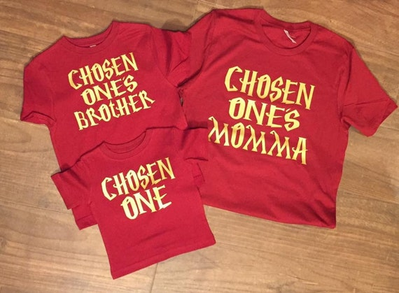 Chosen One Shirt Theme Family Birthday Party Shirts First