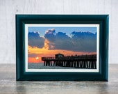 "Pier Photograph, Landscape Photography, Fort Lauderdale Print, Florida, Summer Beach Photography, Summer Print ""Anglins"""