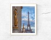 Paris Wall Art, Eiffel Tower and Paris Skyline Photograph, Paris Print, French Wall Decor, Travel Photography 8x10 Print