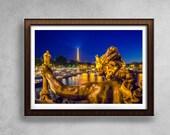 Pont Alexandre Photograph, Paris Decor, Large Wall Art, Parisian Architecture Print, Fine Art Photography, Bridge