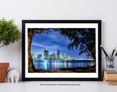 Miami Skyline, Miami Art Poster, MIA Wall Art Print, Miami Cityscape, Fine Art Print,  Downtown Miami Photography - The View