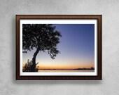 Ocean Photography, Beach Wall Art Print, Ocean Water Sunset, Coastal Decor, , Large Printable Poster, Color Photography, Art