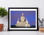 Sacre Coeur Photography, - Paris Landmarks, Wall Art Print, Paris Decor, Architecture, Fine Art Photograph, La Basilique