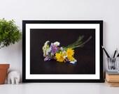 Flower Photograph, Minimalist Floral Art Print, Nature Photography, Fine Art Photography Print, White Flowers