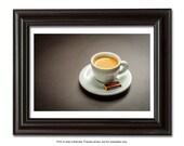 Coffee cup, French Coffee,  kitchen decor,coffee photography, wall decor print, kitchen Art, chocolate, espresso print