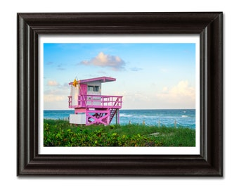 Metal Print Wall Art 11x17 Far Rockaway Lifeguard Stand