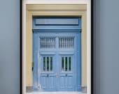 Paris Art Print, Blue Door Photography Print, Paris Wall Art Print, French Wall Decor, 8x12 Travel Photo