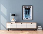 Paris Print, Pale Blue Door Photograph, Paris Wall Art, Prints, Printed Art, Travel Photography Print