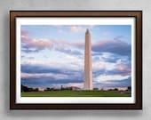 Washington Monument Art ,Washington DC Photography ,Washington Monument Photo, DC Photography,  Vintage Sunset