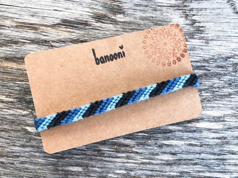 String woven bracelet Gift for him Surfer jewelry Freedom Threaded bracelet Friendship bracelet Macrame Men bracelet