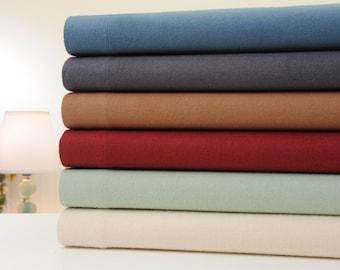 Bibb Home Extra Soft Deep Pocket Solid Flannel Sheet Set - 6 Colors