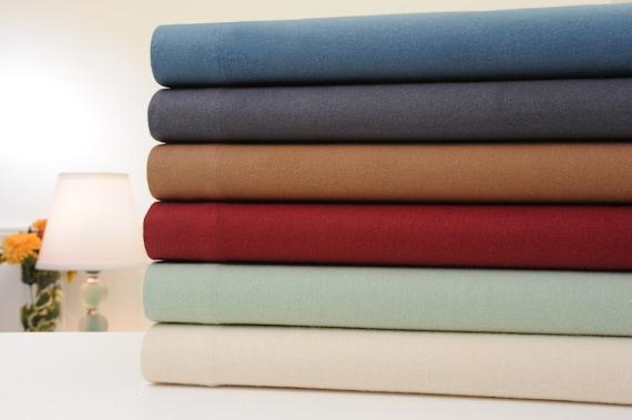 Bibb Home Extra Soft Deep Pocket Solid Flannel Sheet Set 6 Etsy