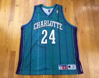 565e9ae13 Vintage Charlotte Hornets Washburn Champion Jersey jamal washburn jersey  charlotte hornets jersey champion nba jersey pinstripe size 52 nc