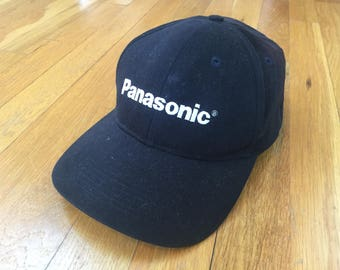 af9273ee461 Vintage Panasonic hat black snapback dad hat cap palasonic promo tech lumix  technics DJ ahead of our time japan palmcorder
