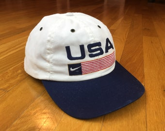 28580bc667d Vintage Nike USA hat 90s nike hat nike white tag snapback nike usa flag cap  made in usa nike hat two tone american flag nike jordan airmax