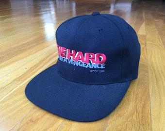 85345ce1792 Vintage Die Hard with a vengeance hat 1995 die hard movie 90s die hard hat  bruce willis new york city simon says do or die 90s movie hat
