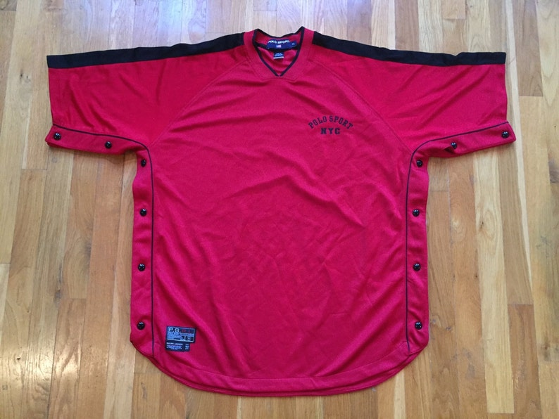 b7fb258b Vintage Rare Polo Sport ralph lauren t shirt jersey size XL | Etsy