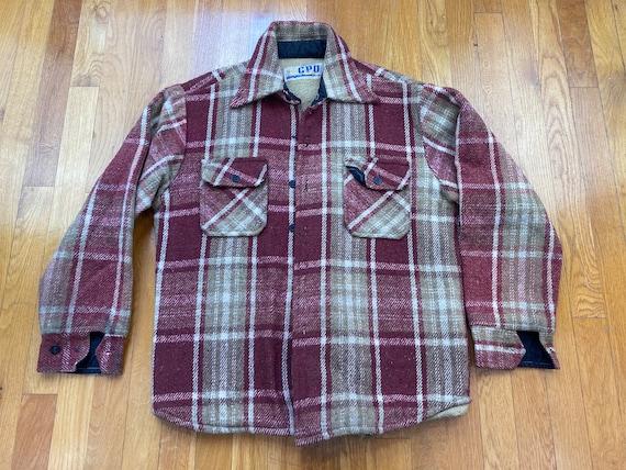 Vintage CPO Flannel Shirt jacket 70s usn flannel u