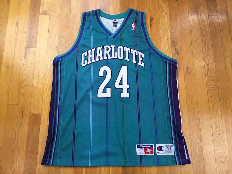 size 40 5b9d2 de15d Vintage Charlotte Hornets Washburn Champion Jersey jamal washburn jersey  charlotte hornets jersey champion nba jersey pinstripe size 52 nc