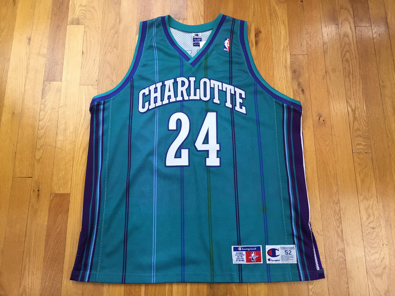 size 40 287e7 60ca4 Vintage Charlotte Hornets Washburn Champion Jersey jamal washburn jersey  charlotte hornets jersey champion nba jersey pinstripe size 52 nc