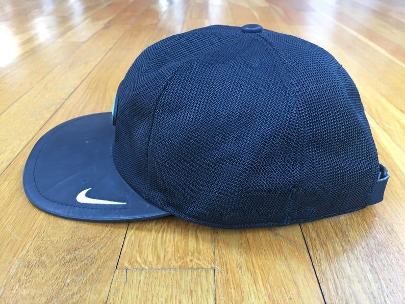 67b82ed4536 Vintage 90 s Nike White Tag hat black mesh tech basketball