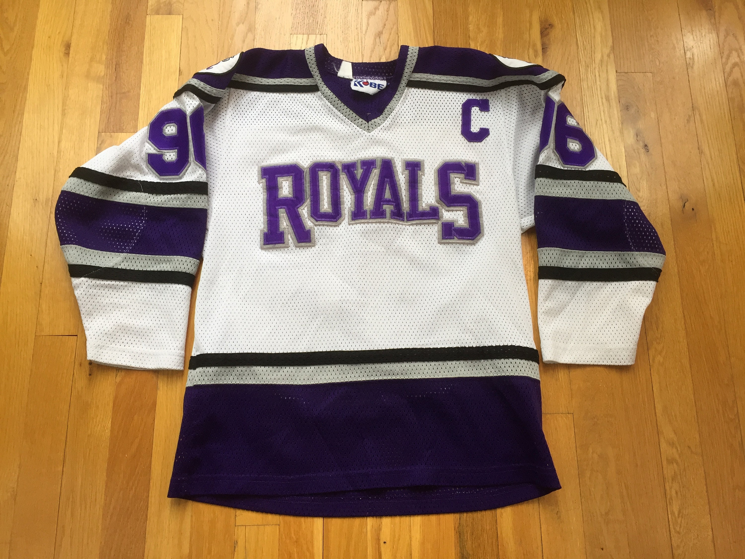 Vintage Richmond Royals Hockey Jersey size M white purple  9613ea86fd7