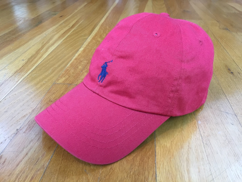 2c0ade2574f Vintage Polo Hat polo horse cap Polo by Ralph Lauren Cap red