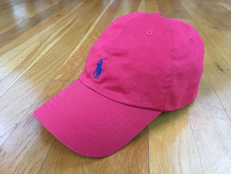 02891db82fe8 Vintage Polo Hat polo horse cap Polo by Ralph Lauren Cap red
