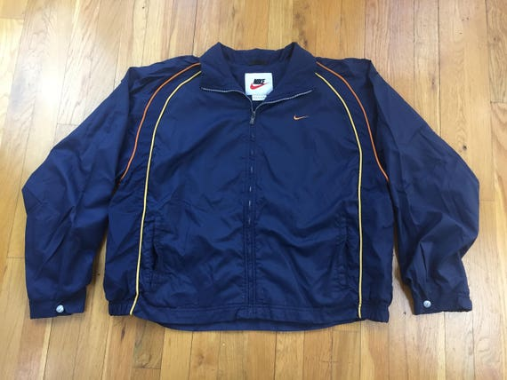 fc1e3df815 Vintage 90 s Nike Windbreaker jacket size XL navy blue