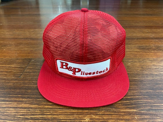 Vintage Livestock trucker hat 80s made in usa tru… - image 2