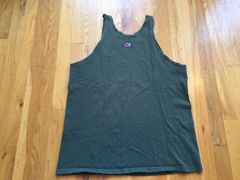 3fad1823211a Vintage 90 s Champion tank top size M green sleeveless
