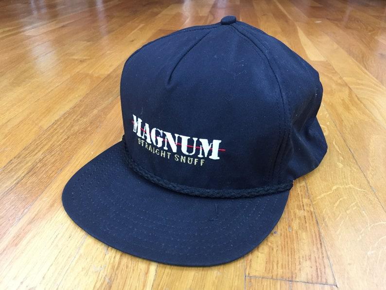 2f81da3577ed7 Vintage Magnum Snuff hat snapback straight snuff tobacco 90s