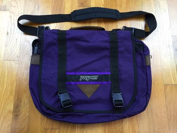 Vintage Jansport Messenger bag 90s jansport side b