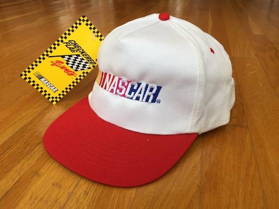 Vintage Nascar hat 90s deadstock nascar hat red wh