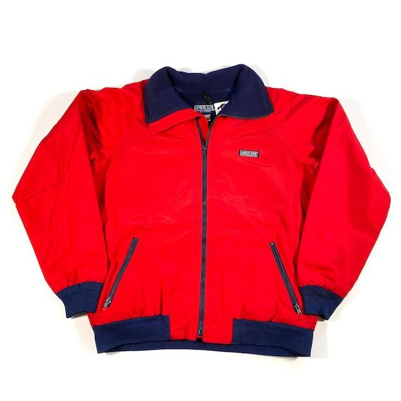 Mens Lands End Jacket Mens Purple Heavy Coat 90s Men/'s Land/'s End Reversible Jacket Mens Vintage Clothing Large
