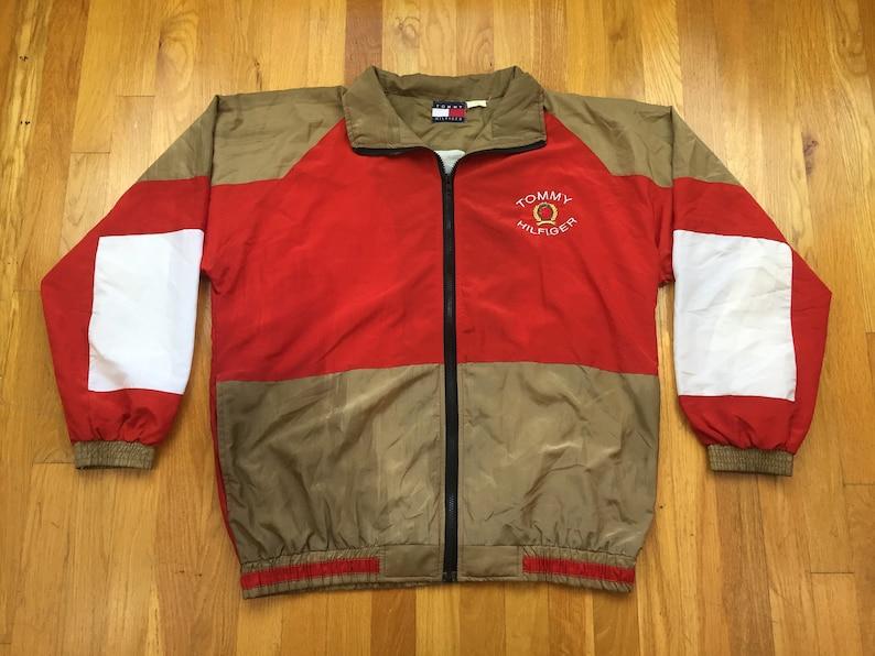 Vintage Tommy Hilfiger jacket 90s Tommy HIlfiger bootleg jacket tommy hilfiger windbreaker 49ers jacket tommy flag tommy 90s style jackets