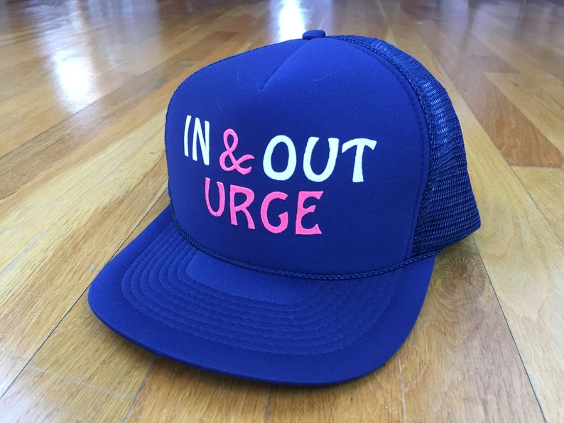 da8150b44e87e Vintage In   Out urge trucker hat snapback navy structured