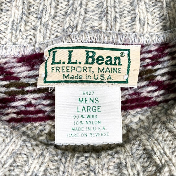 Vintage LL Bean Sweater 80s LL Bean sweater Made … - image 5