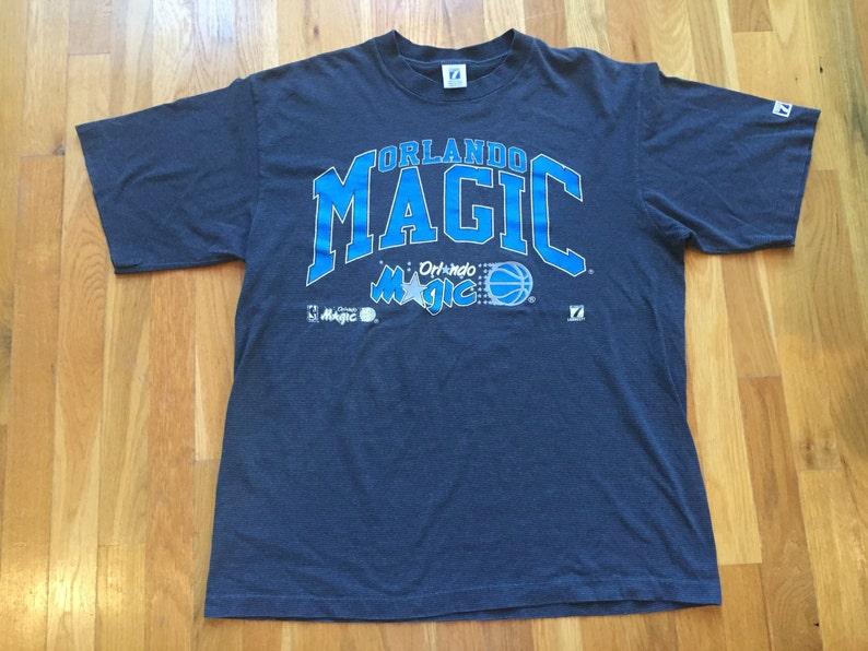 f2db8040 Vintage 90s Orlando Magic tshirt size L Logo 7 NBA basketball   Etsy