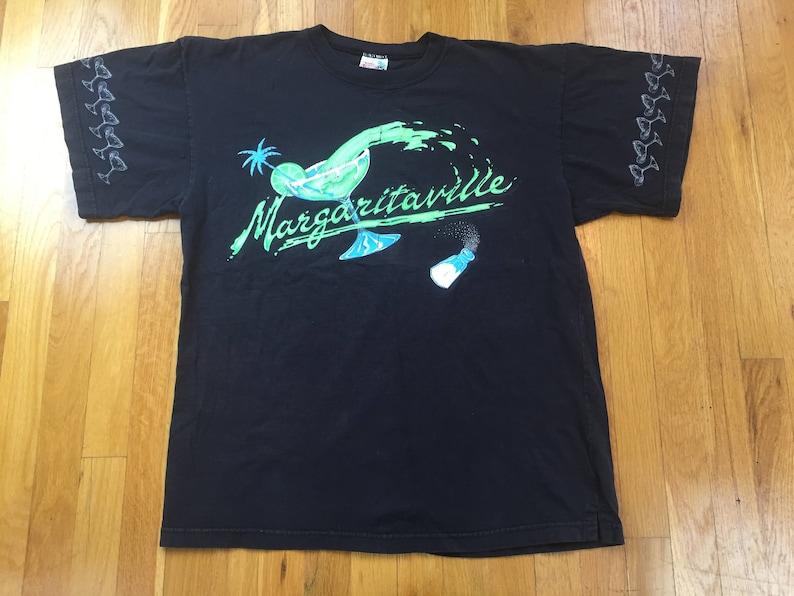 78ec3538 Vintage 80's Margaritaville tshirt size OSFAL-XL black | Etsy